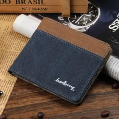 acecd8b9ab Baellerry Fashion Men Wallets Short Wallet Men Canvas Purse Brand Designer  Wallet Man billetera hombre portefeuille