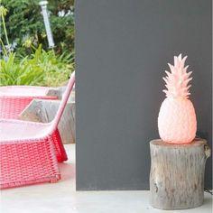 Garden Deco, Table Teck, Pineapple Lamp, Peter Pan Disney, Decoration Design, Cactus, Planter Pots, Sweet Home, Pink