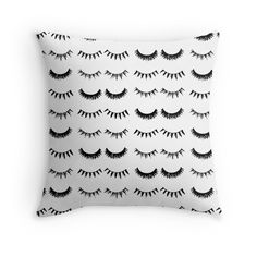 Click image to shop! Lush Lashes Decor Pillow - Shop Miss With-it - www.shopmisswithit.com/