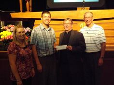 Donation from St. John, Charles City youth for Malaria Campaign
