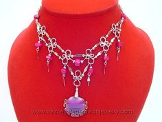 Purple Agate, Alpaca Silver Necklacehttp://www.wholesaleperuvianjewelry.com