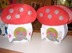 paddestoel Gnomes, Lanterns, November, Arts And Crafts, Seasons, Dolls, School, Halloween, Projects