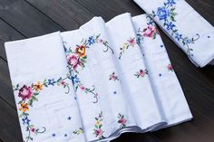cotton cross stitch Hand made embroidery tablecloths