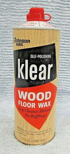 Aero Wax Floor Wax Around The House Pinterest