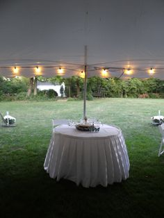 Head Table for Two at Outdoor Wedding