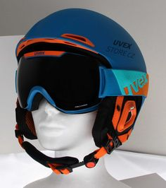 UVEX JAKK+ Blue + UVEX DOWNHILL 2000 PM Bicycle Helmet, Style Inspiration, Blue, Cycling Helmet