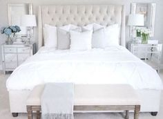 72 White and Clear Bedroom Decor Ideas