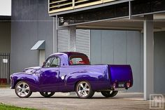 1955 FJ Holden Ute - the iconic Australian car - in purple! - in the & the only Australian's who painted their cars purple were usually of Italian or Greek ancestry. My Dream Car, Dream Cars, Classic Trucks, Classic Cars, Singer Cars, Aussie Muscle Cars, Australian Cars, Automotive Photography, Hot Cars