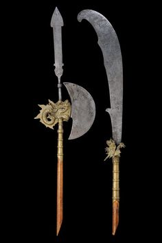Vietnamese glaive and halberd, 19th century.