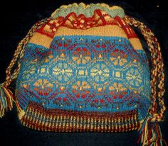 Fair Isle Bag Yarn Kit (knitted flat)
