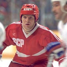 Soviet Union forward Vladimir Krutov finished fourth in tournament scoring with 14 points during the 1987 Canada Cup.  (Doug MacLellan/HHOF) Legends of Hockey - Gallery - Pro Classics, 017