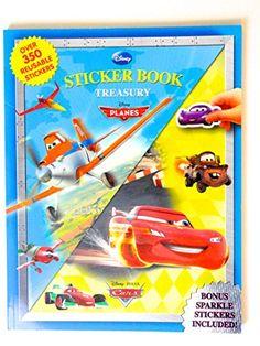 Walt Disney Planes and Cars Sticker Book Treasury Over 350 Reusable Stickers by Disney Enterprises http://www.amazon.com/dp/2764324197/ref=cm_sw_r_pi_dp_35pLub0WBD35Z