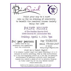 relay for life flyer template - paint pinot flyer poster template art wine and fun
