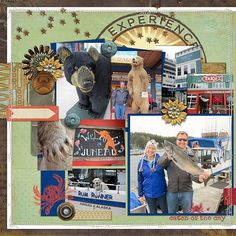 Disney Alaska Cruise - Juneau Alaska Scrapbook Page Layout #DisneyScrapbooking #DisneyMemories