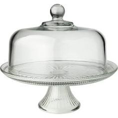 "Anchor Hocking 86475L6R 12"" Glass Cake Stand Set"