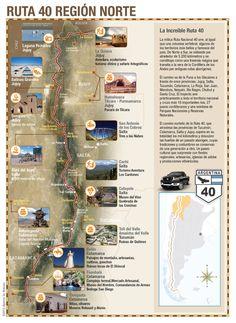 Ruta 40, 6.000 kilómetros por el legendario camino que atraviesa todo el país por el Oeste [Infografías]., viajar a , turismo en Argentina,   www.VisitingArgentina.com