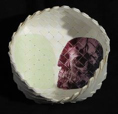 Vanessa Edwards, With your basket, with my basket, etching on woven paper, from an edition of 3, 2012. NZ$280 incl GST. Art School, Paper Art, Mixed Media, Art Gallery, Basket, Artist, Maori, Papercraft, Art Museum