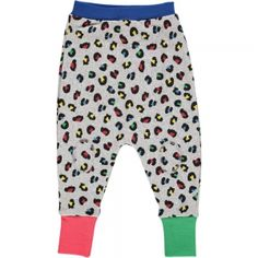 Primary coloured leopard print harem pants for children www.tootsamacginty.com