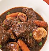 Slow-Cooker Beef Stew- making this tonight. Delicious so far. I substituted rutabaga for potatoes.