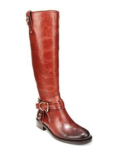 VINCE CAMUTO Tall Flat Harness Riding Boots - Kabo Extended Calf | Bloomingdale's