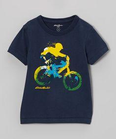 Navy Bicycle Tee - Toddler & Boys #zulily #zulilyfinds