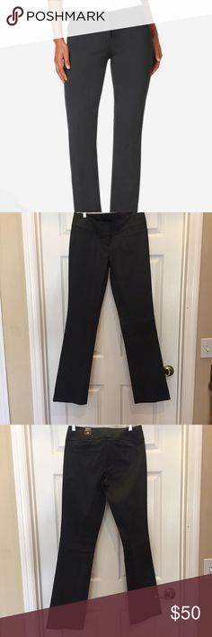 NWT - The Limited Exact Stretch Grey Bootcut Pants NWT - The Limited Exact Stretch Grey Bootcut Pants. Size 4R. The color is a dark grey. If you would like more pics please don't hesitate to ask. No trades. Smoke free home. PM only for your protection and mine. The Limited Pants Trousers