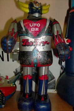 Grendizer, Goldorak Atlas Ufo Robot Vintage POPY Anime Tin Toy