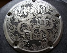 Paul Holbrecht: 'Ride or Die' relief & sculpted, hand engraved H-D derby cover