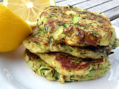 Garden Zucchini Cakes | OAMC from Once A Month Mom - Lunch