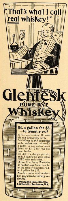 1905 Ad Donoghue Importing Co Glenfesk Rye Whiskey Original Advertising | eBay