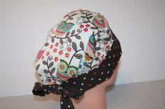 Scrub Hat Surgical Scrub Cap Chemo Hat Tie por ScrumptiousScrubHatz
