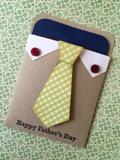 Happy Father's Day Card Hand-Stamped Card by ChicTweetBoutique