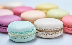 Download wallpapers macaroons, colorful cake, sweets, cakes, pastries
