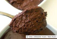Mennyei étcsokoládé mousse
