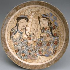 Saljuq Bowl with Harpist, late 12th-early 13th century
