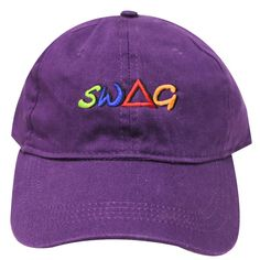 eb6d5442e777e Capsule Design SWAG Dad Hat in Dark Purple