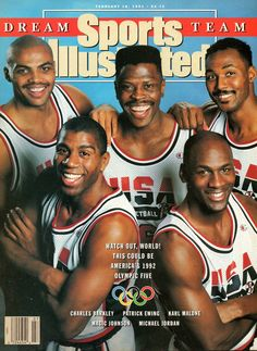 The Dream Team. Barkley, Ewing, Malone, Johnson & Jordan.
