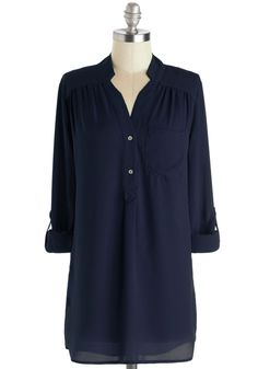 Pam Breeze-ly Tunic in Navy, #ModCloth $34.99