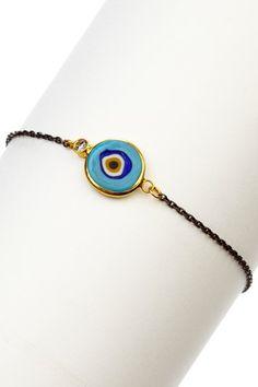 Interesting evil eye bracelet but I like it.