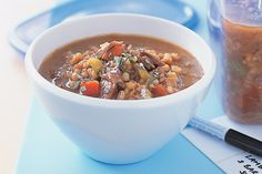 This soup is hearty enough to serve as a meal.