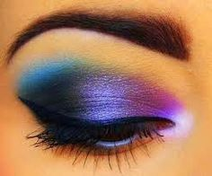 black and blue makeup