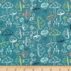 Art Gallery Hello Bear Morel Grove Pond from @fabricdotcom  Designed by Bonnie Christine for Art Gallery Fabrics, this cotton print is perfect for quilting, apparel and home decor accents. Art Gallery Fabric features 200 thread count of finely woven cotton. Colors include white, grey, black, yellow, peach, and teal.