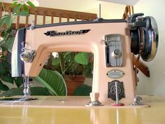 Vintage Brother HA4-B2 Sewing Machine. Adorable and pink!