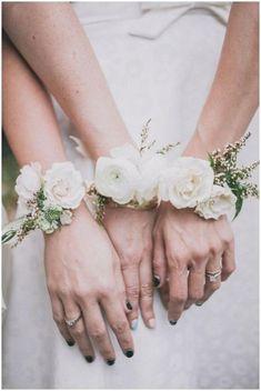 wedding floral bracelets
