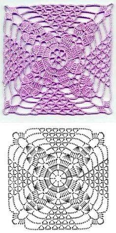 Transcendent Crochet a Solid Granny Square Ideas. Inconceivable Crochet a Solid Granny Square Ideas. Crochet Square Patterns, Crochet Motifs, Crochet Diagram, Crochet Stitches Patterns, Crochet Chart, Crochet Squares, Thread Crochet, Love Crochet, Crochet Designs