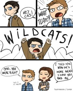 """tsuki-nekota: """"We finish each other s-"""" """"Pop culture references!"""" In which Cas totally gets all your pop culture references now."""