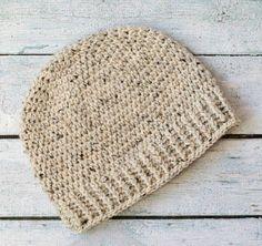 Mens crochet hat pattern. Salt of the Earth Men's Crochet Beanie. Love this! #mensbeanie #menshat