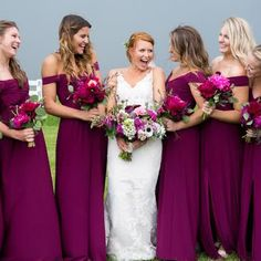9f8bc6ca129 20 Fall Bridesmaid Dresses We Love Rasberry Bridesmaid Dresses