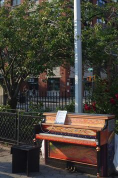 2015 Sing for Hope Piano placed in Marcus Garvey Park
