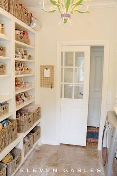 """Awesome """"laundry room storage diy cabinets"""" information is available on our internet site. Check it out and you wont be sorry you did. Pantry Laundry Room, Laundry Decor, Laundry Room Organization, Laundry Room Design, Kitchen Pantry, Basket Organization, Laundry Room Doors, Small Laundry Rooms, Kitchen Layout"""